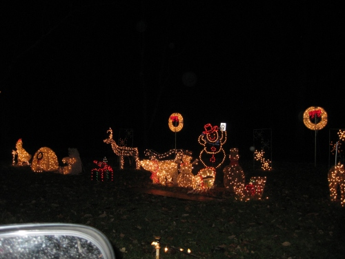 for this event you stay in your car and drive through the woods to view over a mile of christmas lights its quite magical as you enter there is a sign